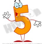 85618-royalty-free-rf-clipart-illustration-of-a-friendly-orange-number-5-five-guy